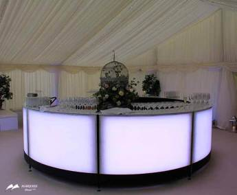 Image of luxurious LED lighted circular bar