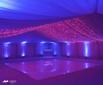 Pink fairy light wave