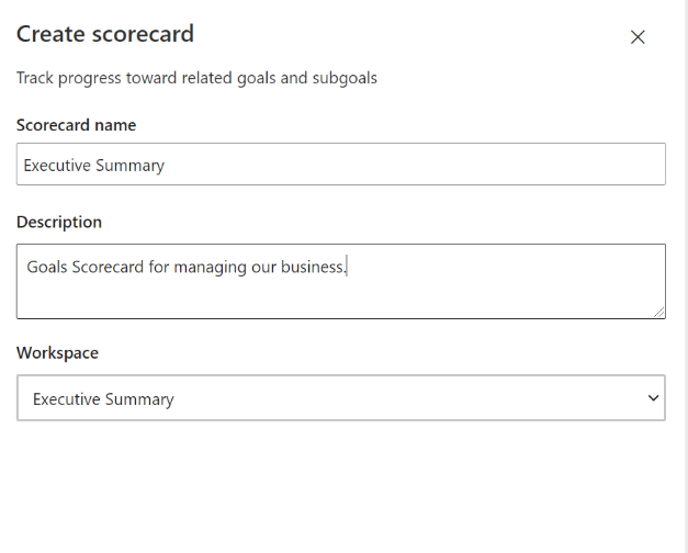 Naming your new scorecard