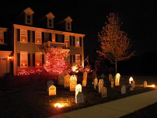 decorar puerta de casa halloween