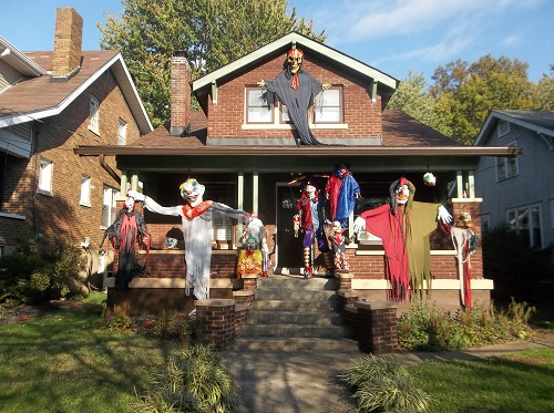 halloween decorar porche