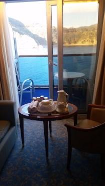 Breakfast on balcony