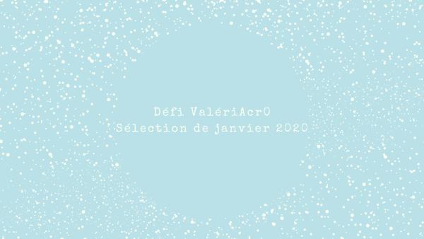 sélection janvier 2020 du défi ValeriAcr0 image avec des flocons