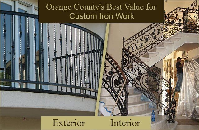 Iron Entry Doors Fences Gates Stair Railings Orange County | Exterior Iron Stair Railing | Steel | Exterior Ramp | Cheap | Wood | Contemporary