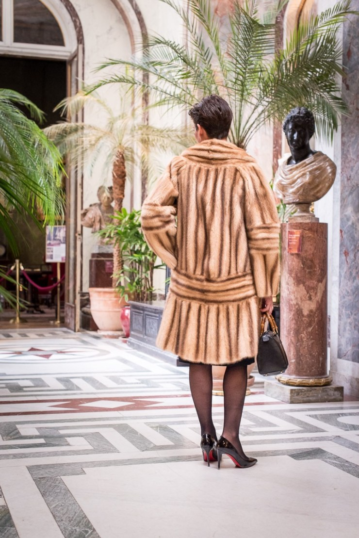 Manteau de Vison Fendi au musée Jacquemart André