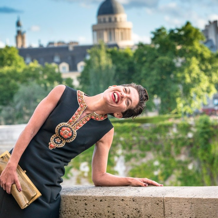 Marquis Paris - Fashion Paris - Juin 2017 - Robe Noire et plastron