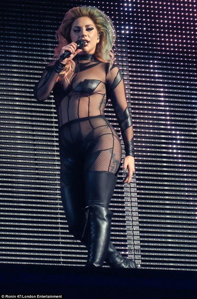 Lady Gaga outfit cutouts