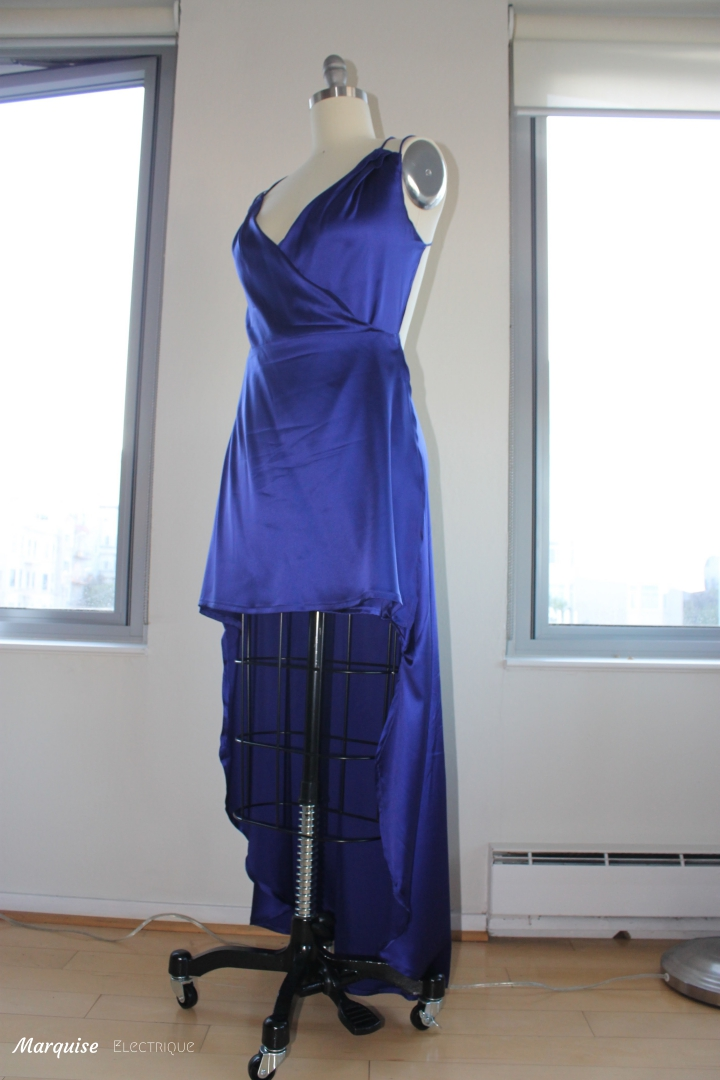 couture soie robe