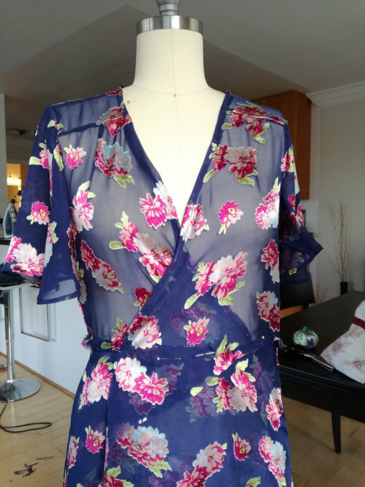 robe soie couture