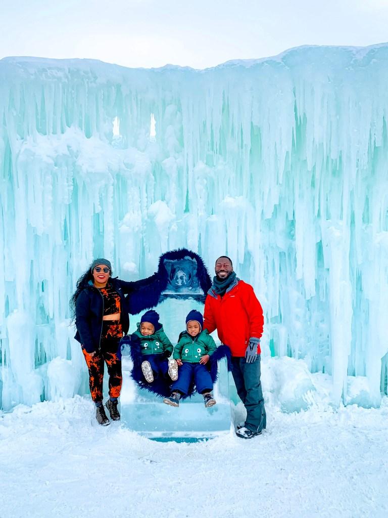 Lake Geneva Wisconsin Ice Castles Family