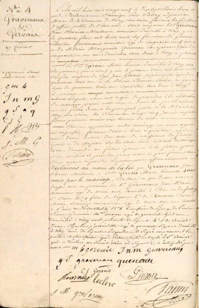 1829-02-17 GRAVEREAUX-GERVAIS - Mariage_wp