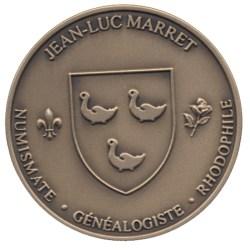 Jean-Luc Marret - Medaille (bronze) detouree