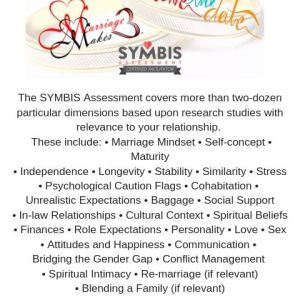 SYMBIS (Saving Your Marriage Before It Starts) –  Assessment & Premarital Counseling