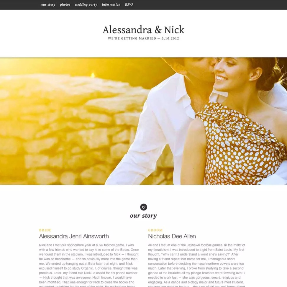 Create A Wedding Website.How To Create A Perfect Wedding Website Marriage Meander