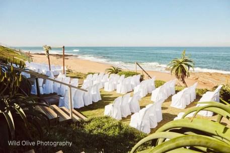 Ceremony off the beach