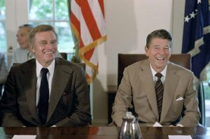 Charlton Heston with Ronald Reagan. He played a great Moses