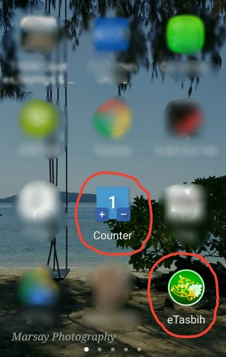 Simple Counter and Tasbeeh Counter App Icons Highlighted .