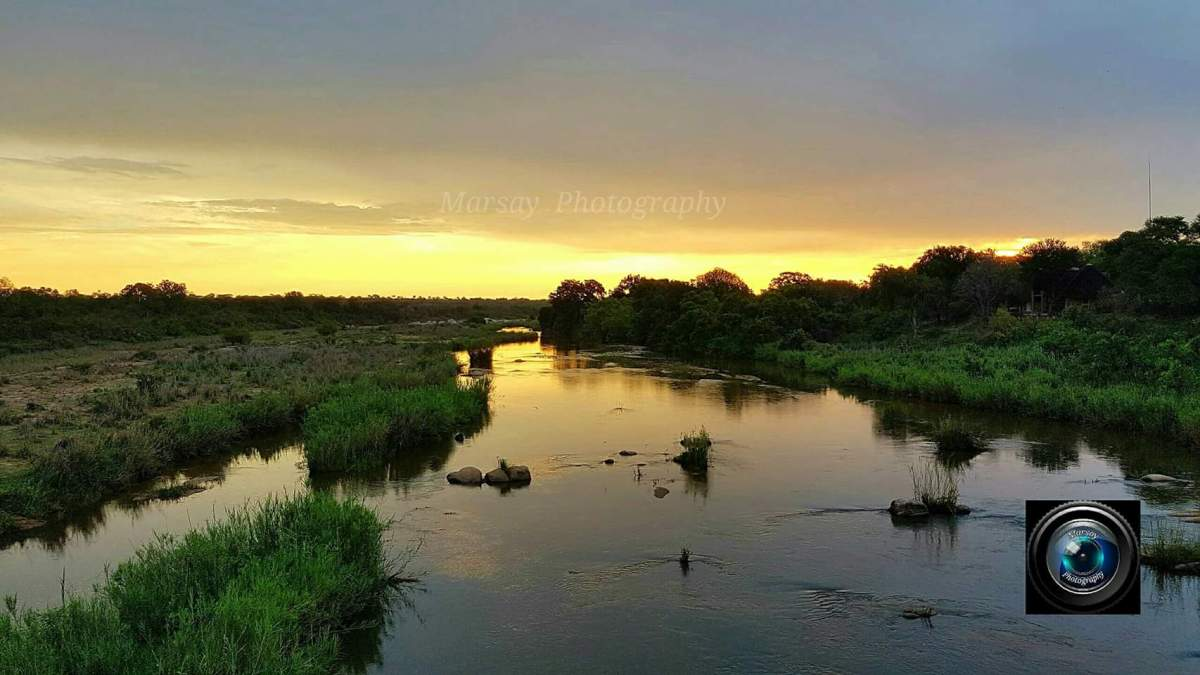Sunset over Sabie River in Kruger National Park, December 2016