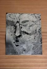 Andrew Hazewinkel Untitled accumulation [ excavation # 13] [ from stone portrait of Caligula], 2012 Aluminium leaf on carborundum sandpaper