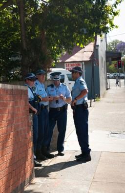 Police on Bland Street