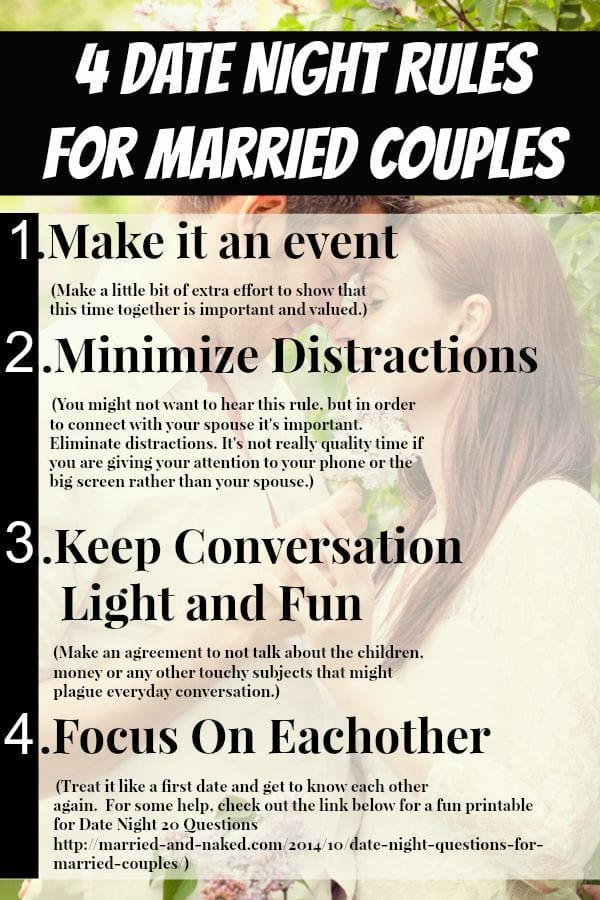 4 date night rules for married couples - married and naked