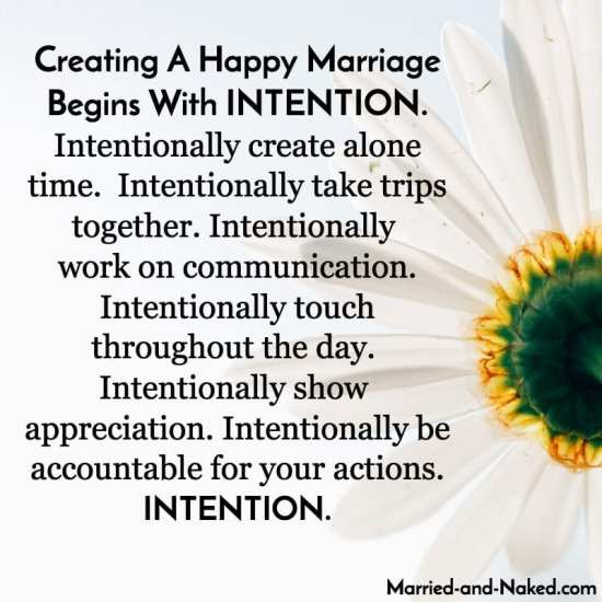 creating a happy marriage begins with intention - married and naked