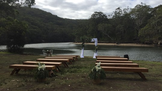 Ceremony area in the Royal National Park