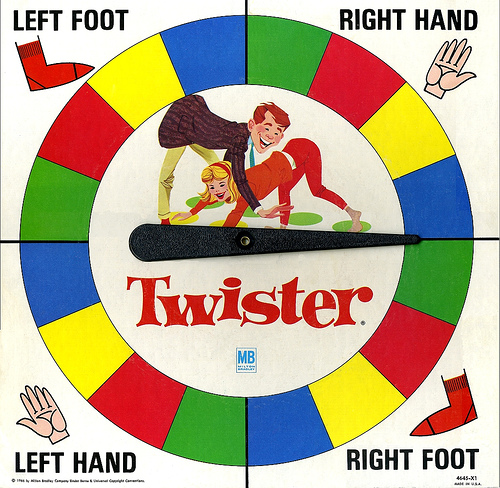 Sexy Body Part Twister Spinner