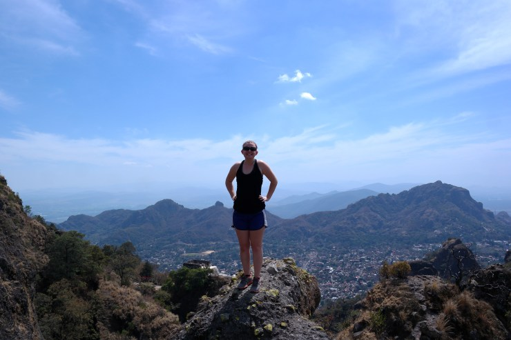 Kara hiking in El Tepozteco, Tepoztlán, Mexico.