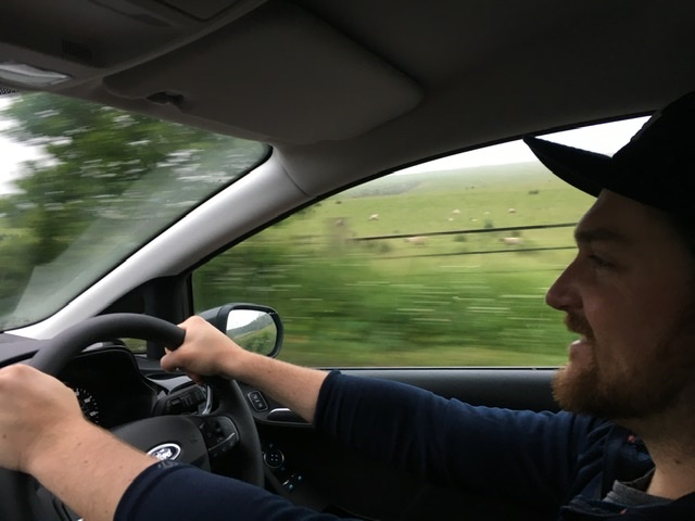Road Trip, Driving opposite side of the road through Scotland.