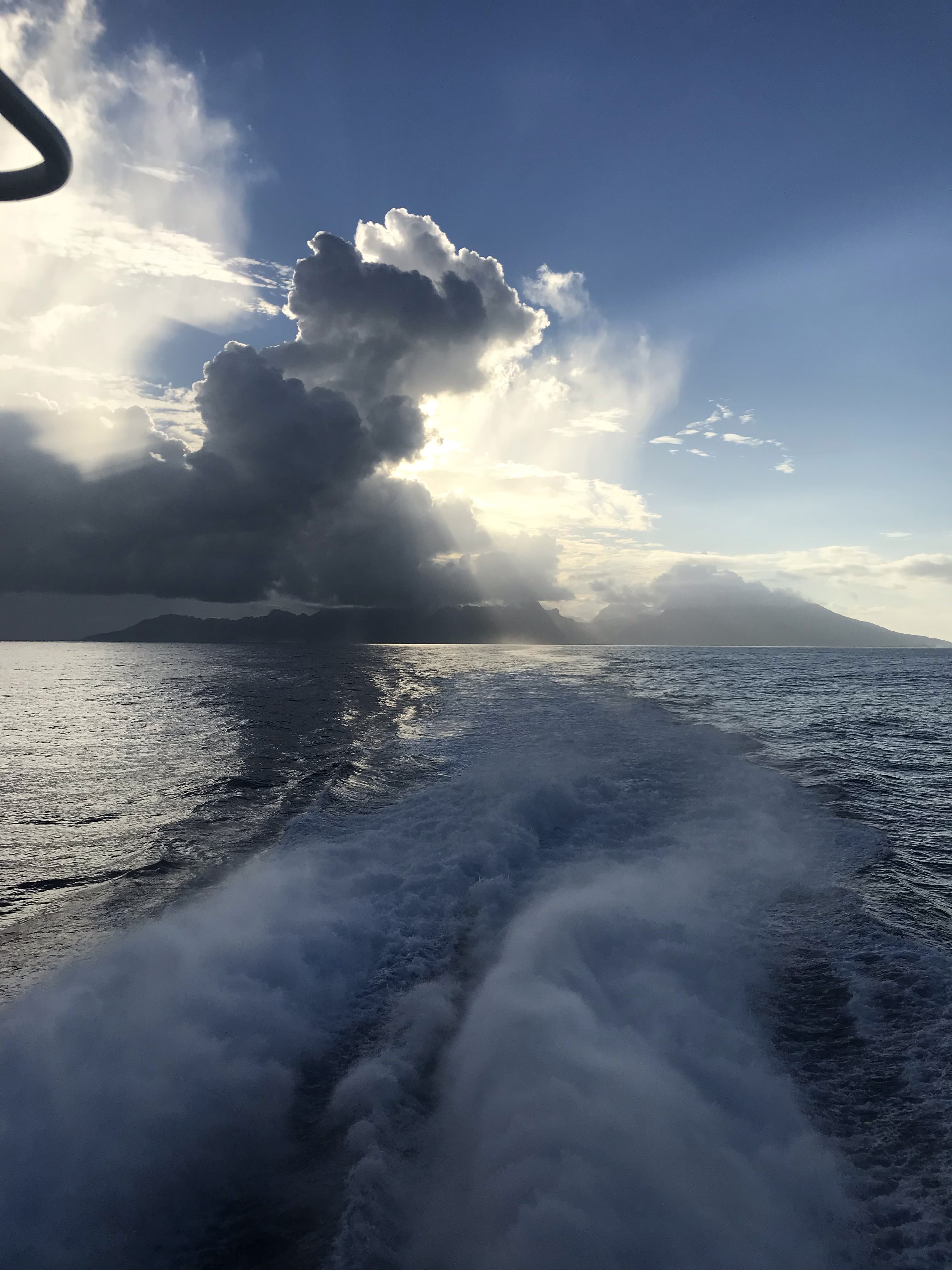 Moorea from the Sea