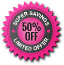 50% Off Limited Timer Offer
