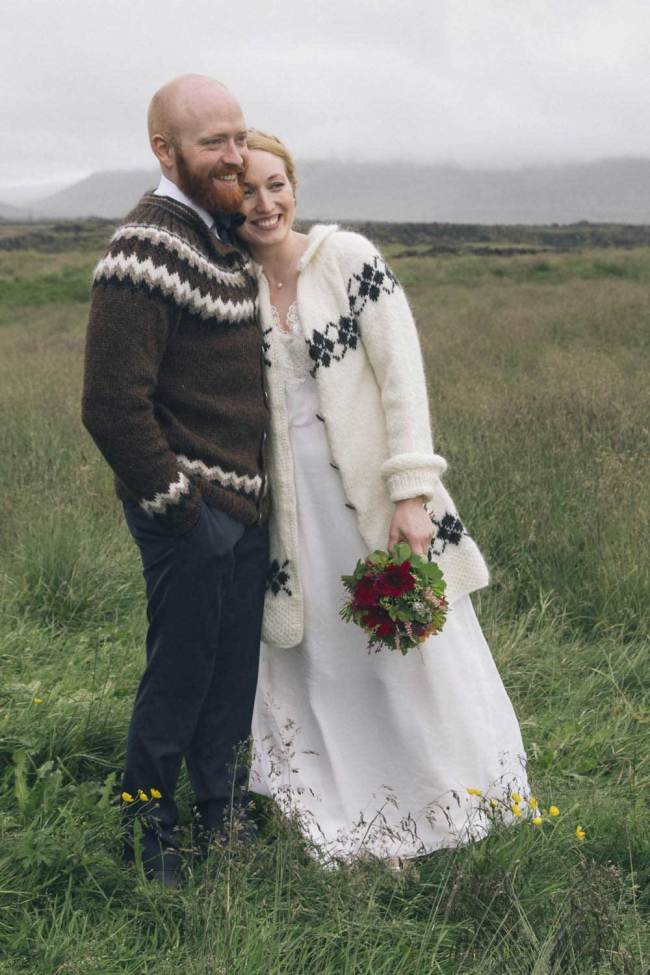 Just married in nature in Iceland