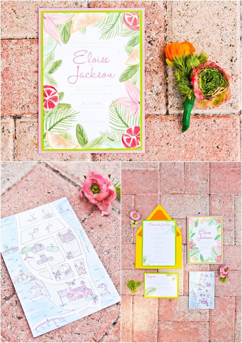 Fun Invitation Suite Lilly Pulitzer Wedding Ideas Krystal Zaskey Photography