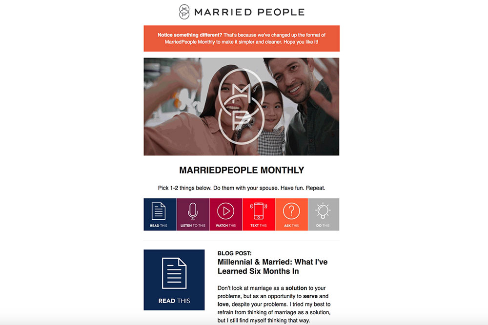 Introducing the New MarriedPeople Monthly