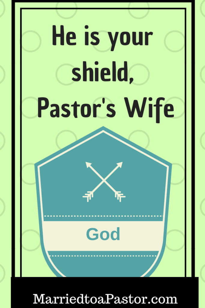 Jesus shields the pastor's wife