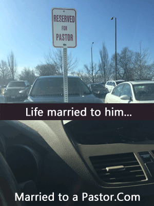 pastor's wife and parking spots
