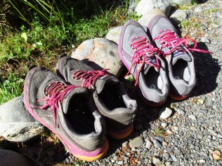 Time for new shoes: 1,170 kilomters of use.