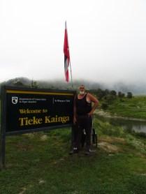 Brent, the Kaitiaki at Tieke Marae.