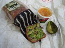 This was last week's favorite. Honey, avo, seeds on a tasty chia/seasame bread.