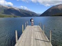 The iconesque shot on Lake Rotoiti with Nelson Lakes Forest in the background.