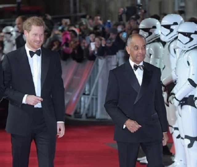 Prince Harry And Duke Of Cambridge Join Stormtroopers On Red Carpet Premiere Of Star Wars In