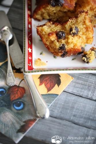 Cake aux cerises Amarena et au gingembre