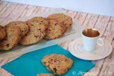 Cookies au chocolat noir, cranberries et graines de lin