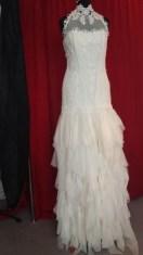 Brautkleid aus Seide und Spitze