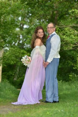 Maßanfertigung Brautkleid Batik