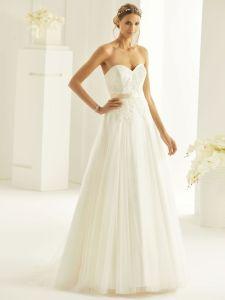 Brautkleid A-Linie Herzform