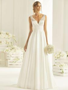 Brautkleid mt Trägern