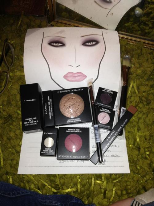 May - MAC make up chart