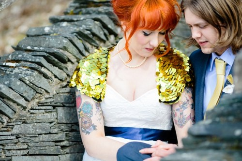 Tattooed Bride waterfall wedding Marry Me Ink Tux and Tales Photography_3195